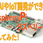 格安でAIやIoT開発ができるボードRaspberryPi(ラズベリーパイ)を入手してみた!